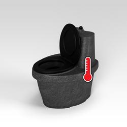 Туалет торфяной Rostok с термосиденьем, черный гранит