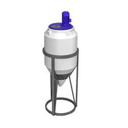 Емкость ФМ 120 л в обрешетке с турбинной мешалкой