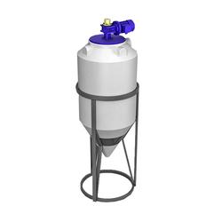 Емкость ФМ 240 л в обрешетке с лопастной мешалкой