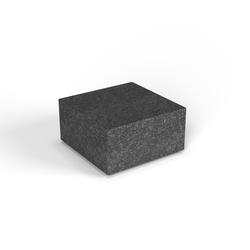 Декоративная фигура Flox Полукуб черный гранит