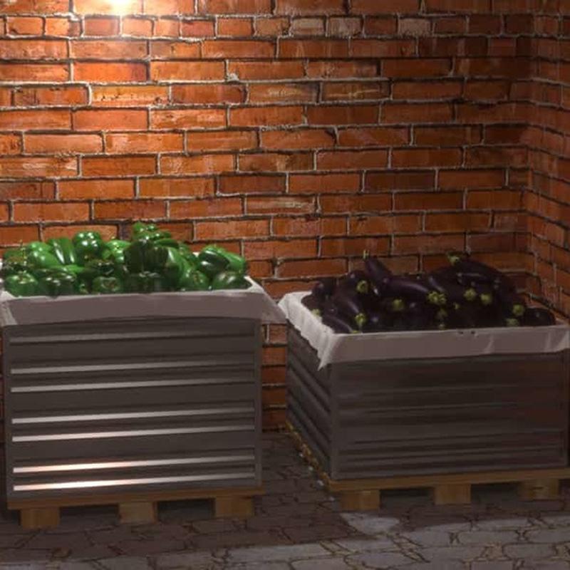 Ящик оцинкованный для овощей 600х750х750